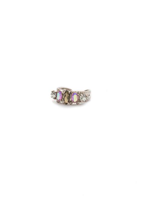 ARMY GIRL- Modern Marquis Crystal Ring by Sorrelli~ RDN79ASAG