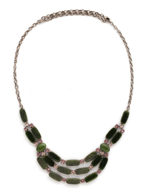 ARMY GIRL- Cultivated Cabochon Necklace by Sorrelli~ NDN5ASAG