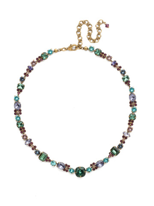 Jewel Tone Crystal Necklace by Sorrelli NCD2AGJT