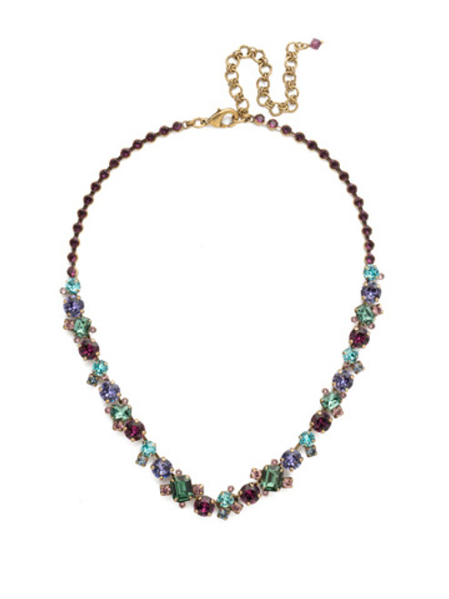 Jewel Tone Crystal Necklace by Sorrelli NCF6AGJT