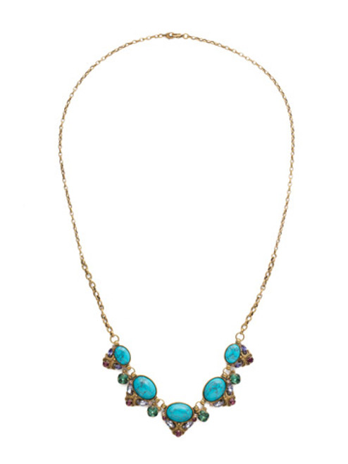 Jewel Tone Crystal Necklace By Sorrrelli ndq12agjt