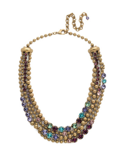 Jewel Tone Crystal Necklace by Sorrelli NDQ5AGJT