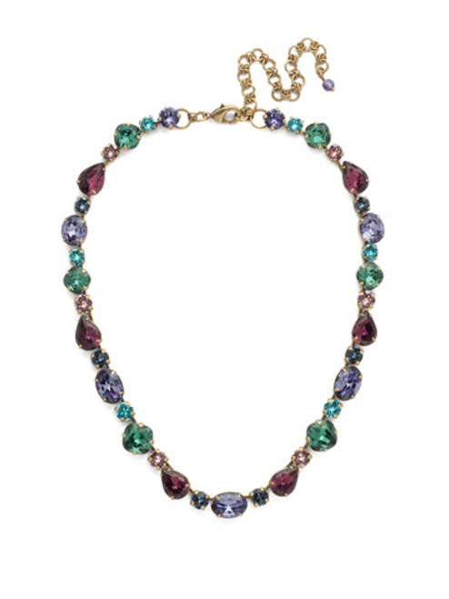 Jewel Tone Crystal Necklace by Sorrelli NDQ37AGJT