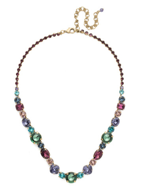Jewel Tone Crystal Necklace by Sorrelli NCP38AGJT