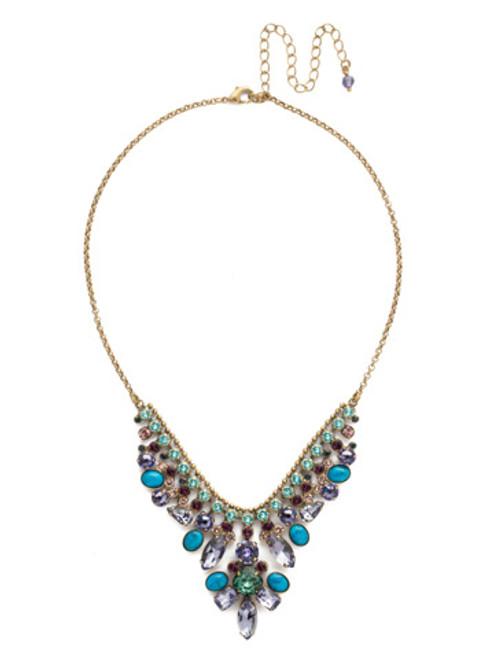 Blue Jewel Tone Crystal Necklace By Sorrrelli