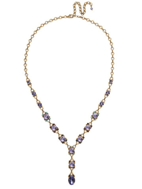 Jewel Tone Crystal Necklace by Sorrelli NDK63AGJT