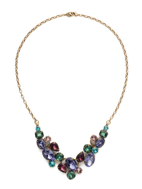 Jewel Tone Crystal Necklace By Sorrrelli ndq6agjt