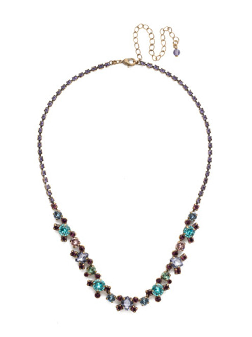Jewel Tone Crystal Necklace by Sorrelli NDK11AGJT