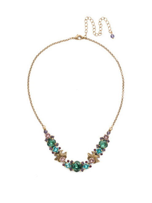 **SPECIAL ORDER** Jewel Tone Crystal Necklace by Sorrelli~NDQ15AGJT
