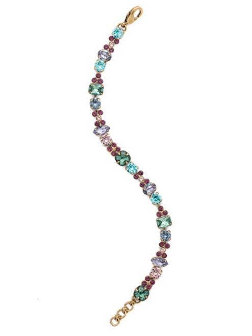 Jewel Tone Crystal Bracelet by Sorrelli BCD2AGJT