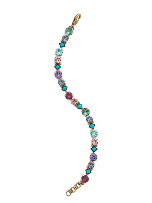 Jewel Tone Crystal Bracelet by Sorrelli BDN36AGJT