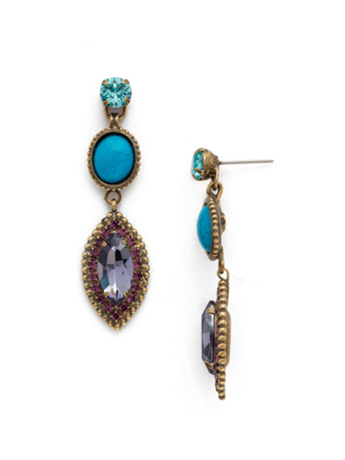 **SPECIAL ORDER** Jewel Tone Crystal Earrings by Sorrelli~EDQ22AGJT