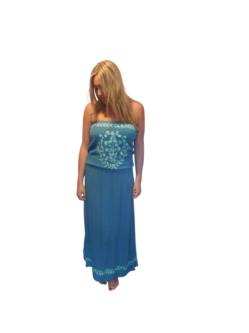 Strapless Embroidered Dress By Lakra
