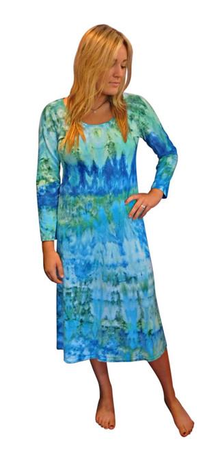 Ice Tye Dye Midi Dress by Martha~Aqua