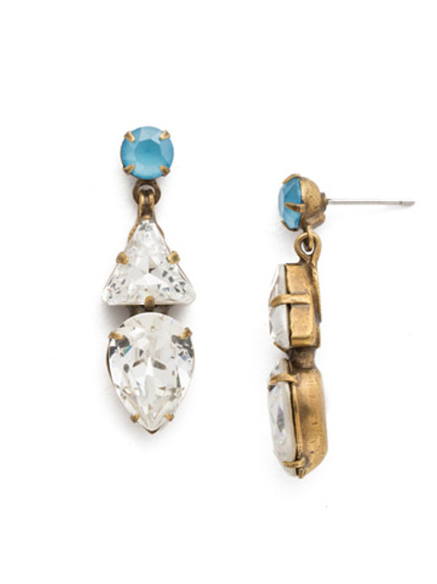 DENIM BLUE Crystal Earring by Sorrelli EDM34AGSMR