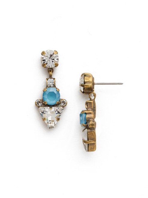 DENIM BLUE Crystal Earring by Sorrelli EDM47AGSMR