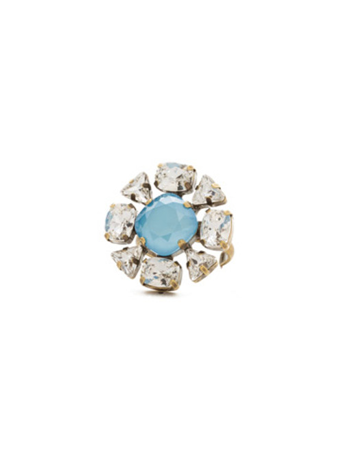 ***SPECIAL ORDER***DENIM BLUE Crystal Ring by Sorrelli~RDM34AGSMR