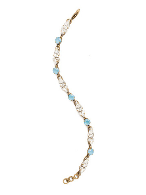 DENIM BLUE Crystal Bracelet by Sorrelli BDM33AGSMR
