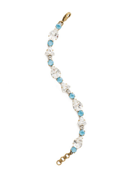 DENIM BLUE Crystal Bracelet by Sorrelli BDM34AGSMR