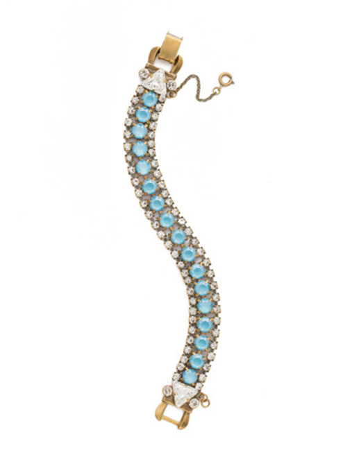 DENIM BLUE Crystal Bracelet by Sorrelli BDM47AGSMR
