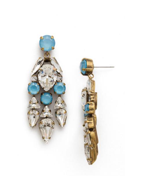 DENIM BLUE Crystal Earring by Sorrelli EDM50AGSMR