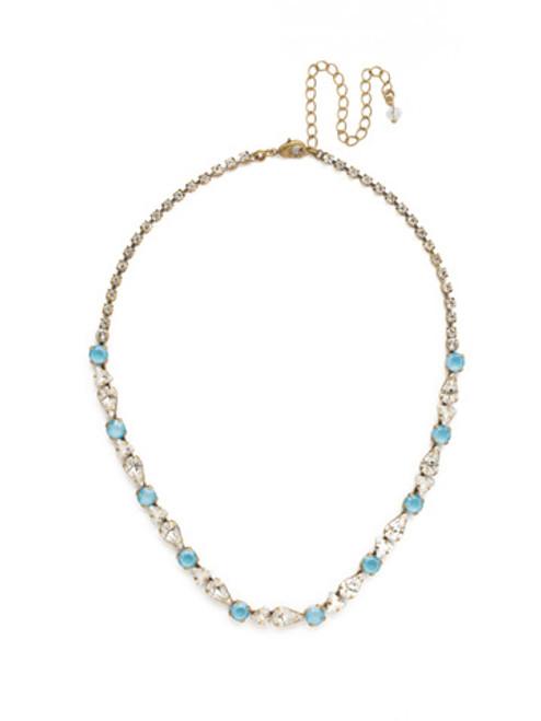 DENIM BLUE Crystal Necklace by Sorrelli NDM46AGSMR