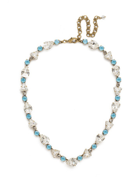DENIM BLUE Crystal Necklace by Sorrelli NDM34AGSMR