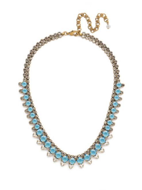 DENIM BLUE Crystal Necklace by Sorrelli NDM47AGSMR