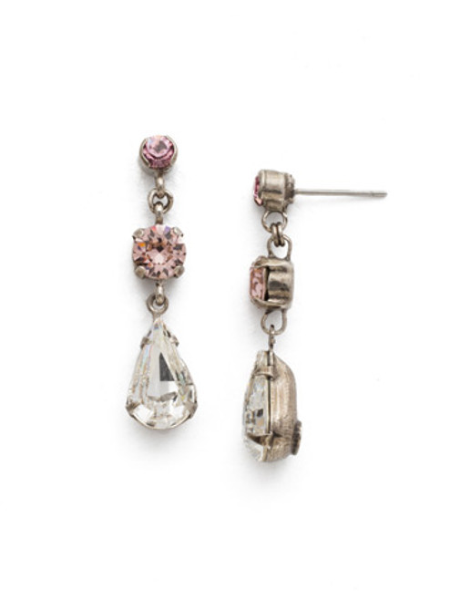 Sorrelli Crystal Rose Earrings