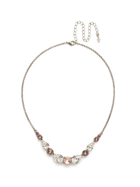 Sorrelli Crystal Rose Necklace