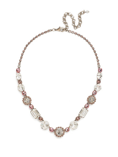 Sorrelli Crystal Rose Necklace NDM41ASCRR