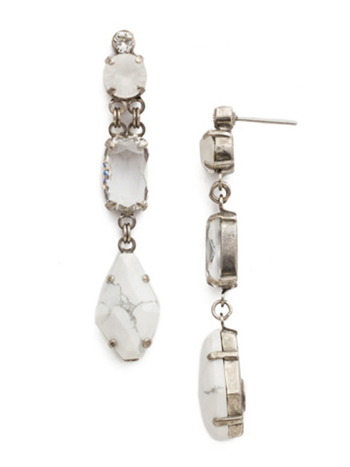 Sorrelli White Howlite Earrings EDK67ASWH