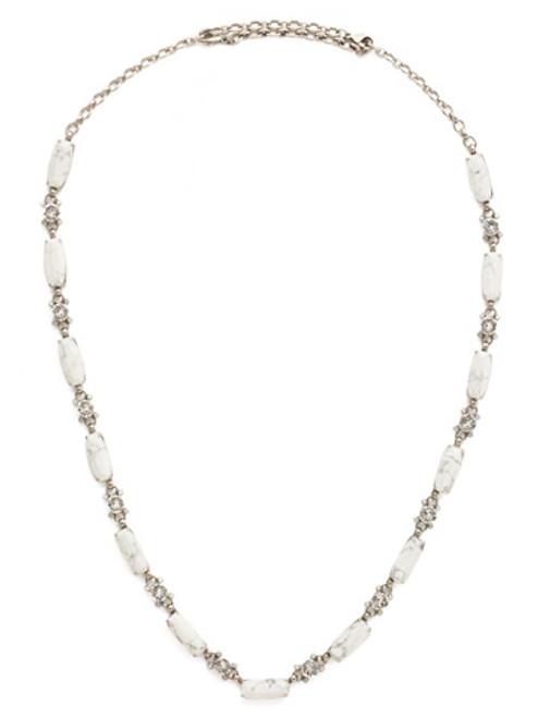 Silver White Howlite Necklace