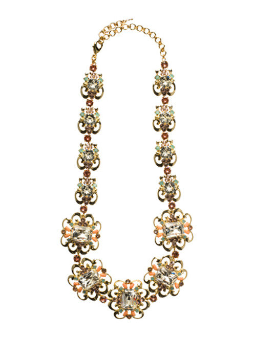 CORAL REEF CRYSTAL NECKLACE BY Sorrelli NCW2BGCOR