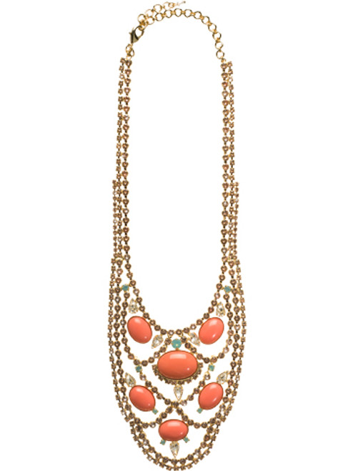 CORAL REEF CRYSTAL NECKLACE BY Sorrelli NCU22BGCOR