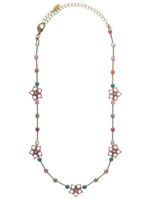 Sorrelli Lollipop Crystal Necklace NCA8AGLP