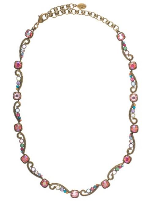 SORRELLI- LOLLIPOP COLLECTION semi-precious stones Crystal Necklace~ NBZ10AGLP