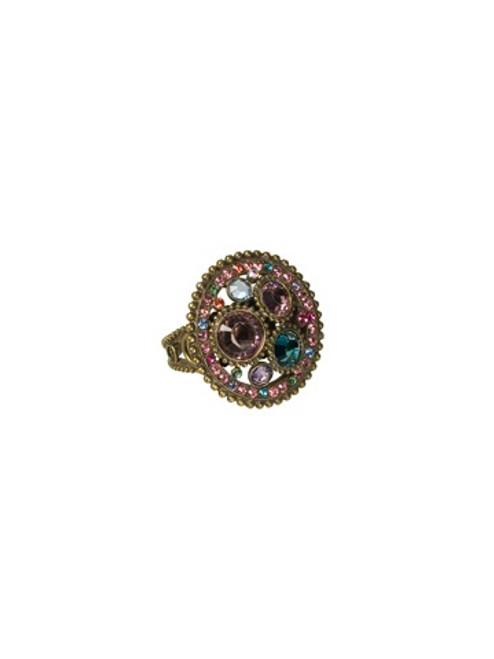 Sorrelli Lollipop Crystal Ring RBY1AGLP