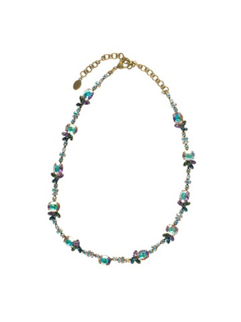 Sorrelli Smitten Crystal Necklace NBN36AGSMI