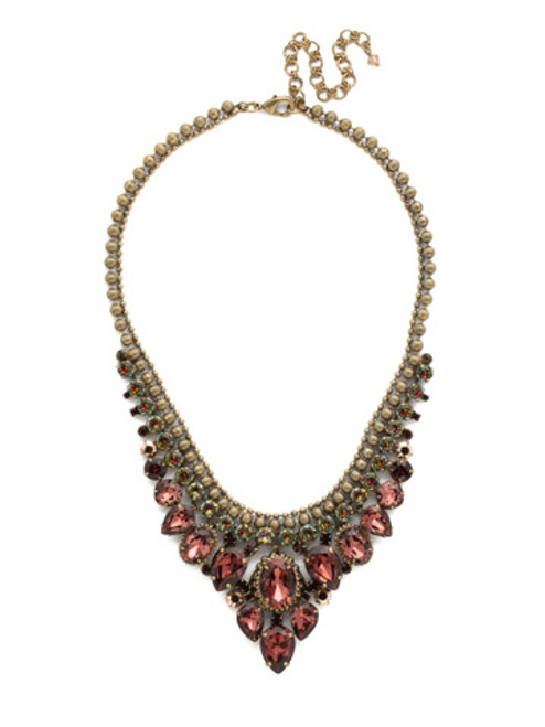 Mahogany Crystal Statement Necklace NDQ3AGM