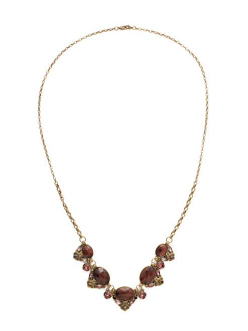 Mahogany Crystal Statement Necklace NDQ12AGM