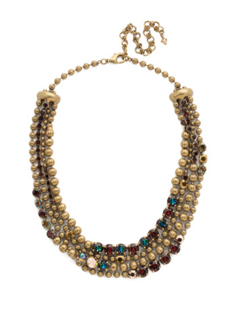 Mahogany Crystal Statement Necklace NDQ5AGM