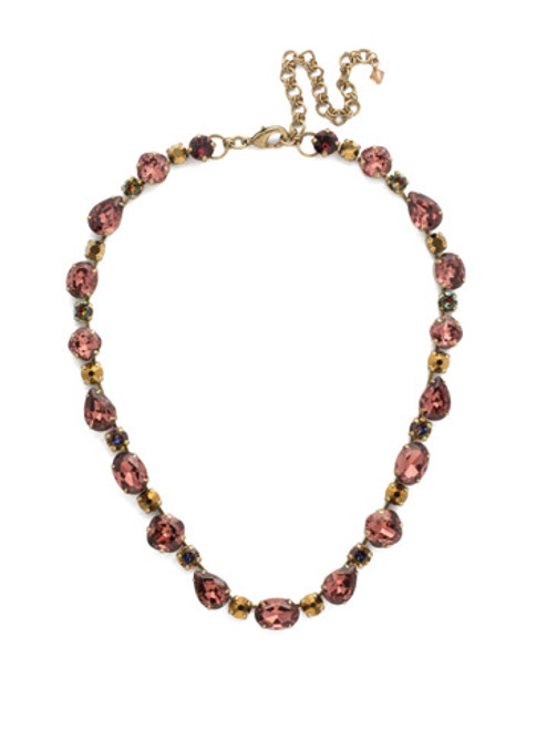 Mahogany Crystal Statement Necklace NDQ37AGM