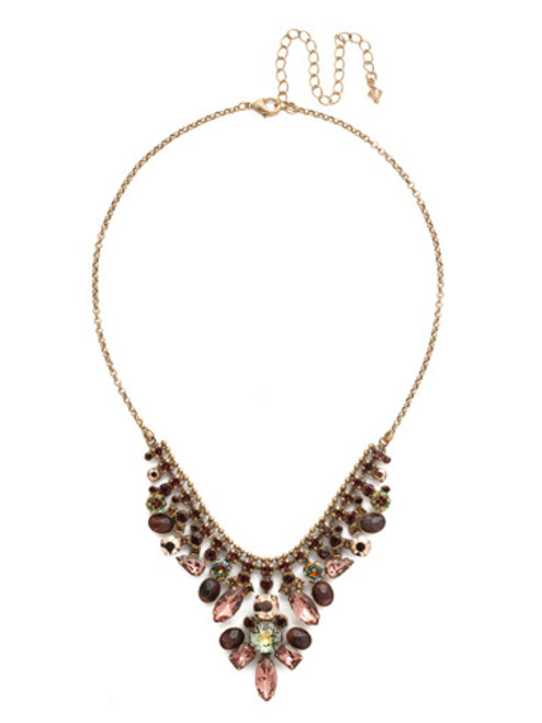 Mahogany Crystal Statement Necklace NDQ4AGM