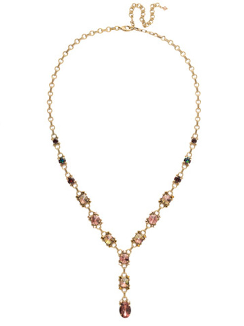 Mahogany Crystal Statement Necklace~NDK63AGM