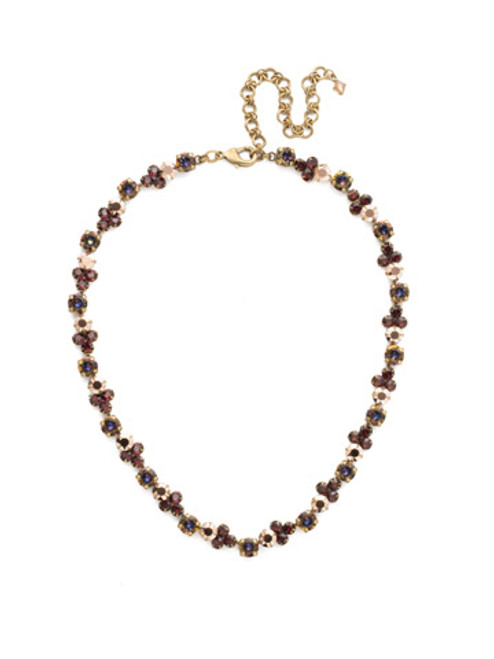 Mahogany Crystal Statement Necklace NDQ36AGM