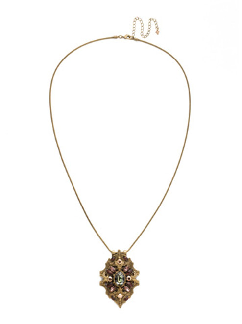Mahogany Crystal Statement Necklace~NDQ8AGM