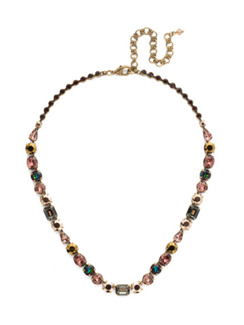 Mahogany Crystal Statement Necklace~NDQ13AGM