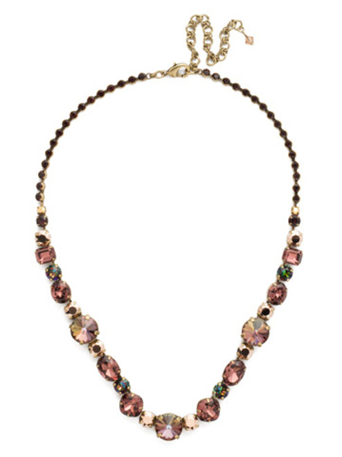 Sorrelli Mahogany Crystal Necklace ncp38agm