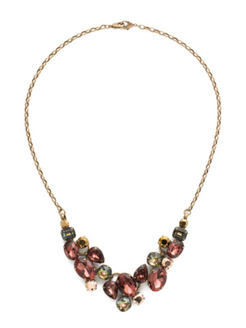 Mahogany Crystal Statement Necklace~NDQ6AGM